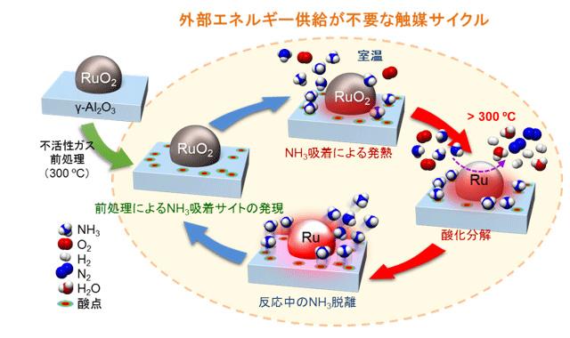 開発した新しいアンモニア分解プロセスの概念図